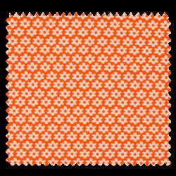 Tissu Imprimé Paquerette Orange