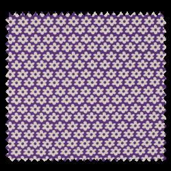 Tissu Imprimé Paquerette Violet