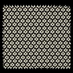 Tissu Imprimé Paquerette Noir