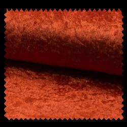 Tissu Panne De Velours Uni Cognac