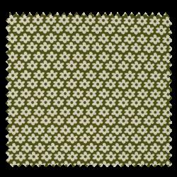 Tissu Imprimé Paquerette Kaki