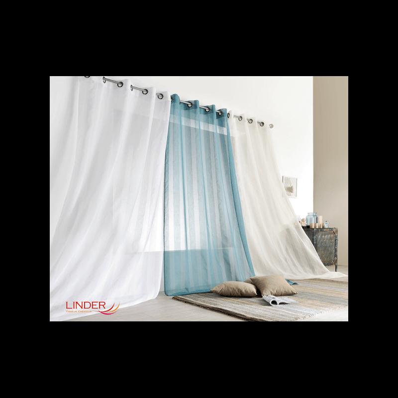 voilage flotte bleu tissus des ursules. Black Bedroom Furniture Sets. Home Design Ideas