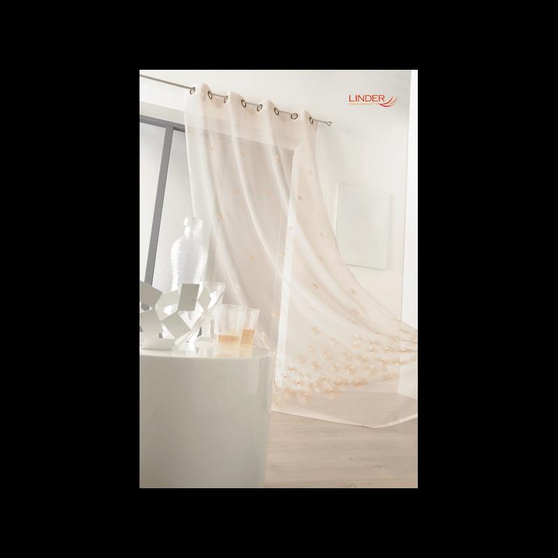 voilage galaxy blanc tissus des ursules. Black Bedroom Furniture Sets. Home Design Ideas