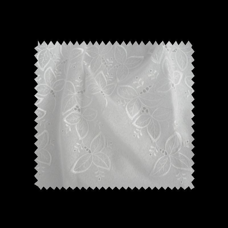 Voile Brodé Blanc