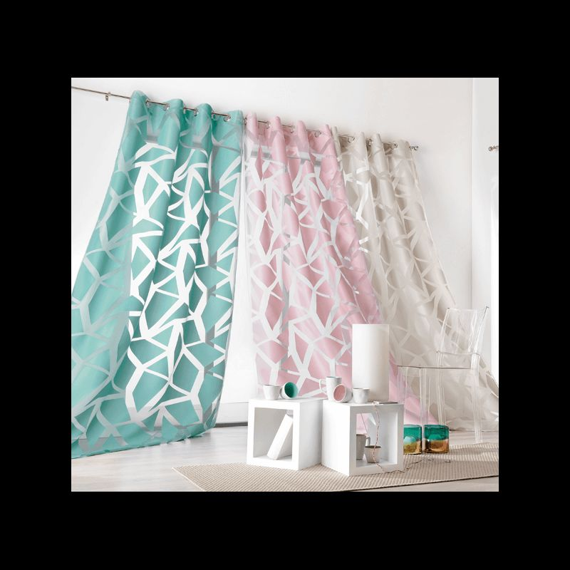 voilage eclats bleu tissus des ursules. Black Bedroom Furniture Sets. Home Design Ideas
