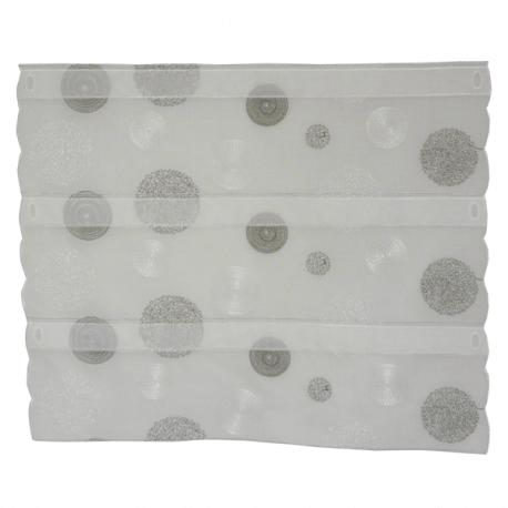 Modulable Ronds Etamine Blanc Gris Foncé (60 cm)