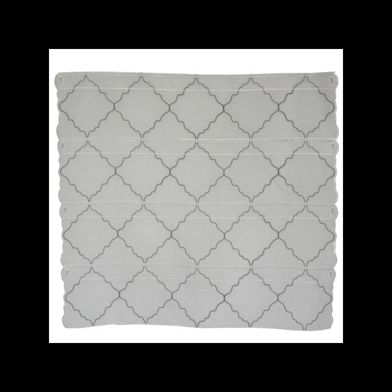 Modulable Losanges Etamine Blanc Gris Foncé (73 cm)