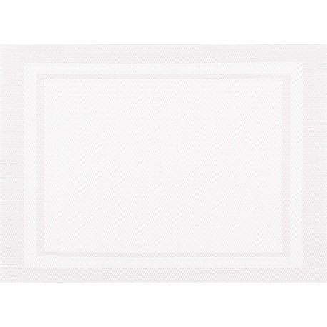 Set de Table Yuco Encadré PVC Blanc