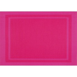 Set de Table Yuco Encadré PVC Fuchsia