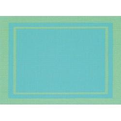 Set de Table Yuco Encadré PVC Turquoise
