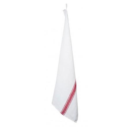 Torchon Harmony Vivario Blanc Rouge