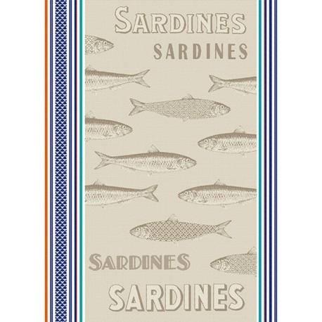Torchon Jacquard Sardine