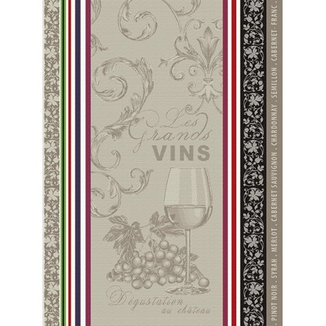 Torchon Jacquard Vignobles
