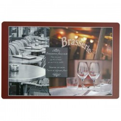 Set de Table Polypro Imprimé Brasserie