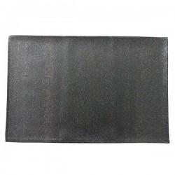 Set de Table PVC Simili Lactée Noir