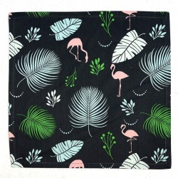 Serviette de Table Tropical Noir Vert