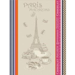 Torchon Jacquard Macaron Multicolore