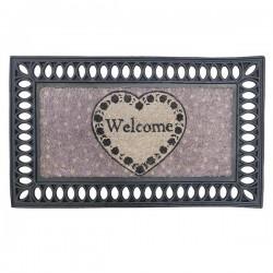 Paillason Welcome Coeur