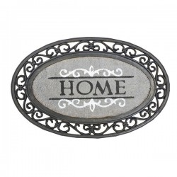 Paillasson Oval Home Gris