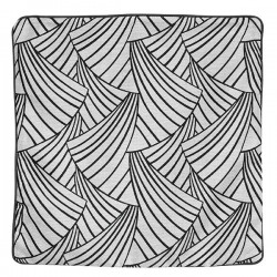 Housse de Coussin Ardeco Geometrie Noir Et Blanc