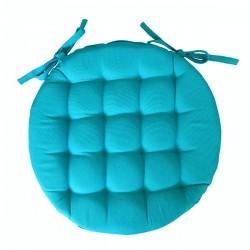 Galette de Chaise Ronde Neo Bleue