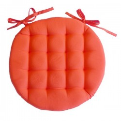 Galette de Chaise Ronde Neo Orange