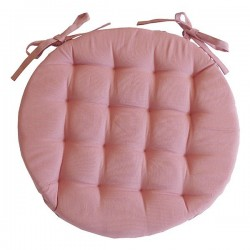 Galette de Chaise Ronde Neo Rose