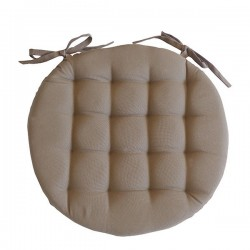 Galette de Chaise Ronde Neo Taupe
