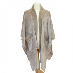 Poncho Cozy Taupe