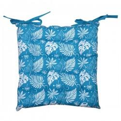 Galette de Chaise Hawaï Imprimé Bleu