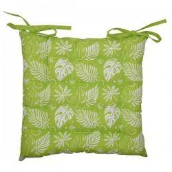 Galette de Chaise Hawaï Imprimée Verte