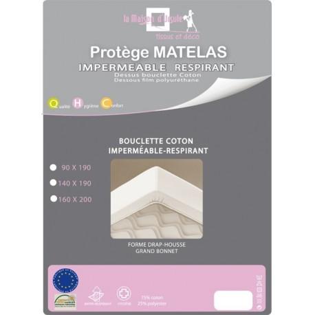 Drap Housse Isa Bouclette Coton Imperméable Respirant