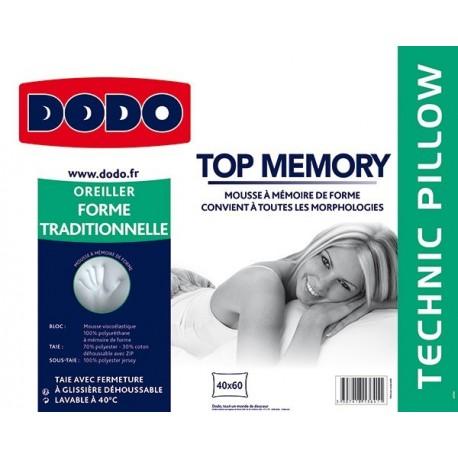 Oreiller DODO Top Memory Memoire De Forme