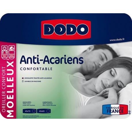 Oreiller DODO Anti-Acariens - 2 tailles