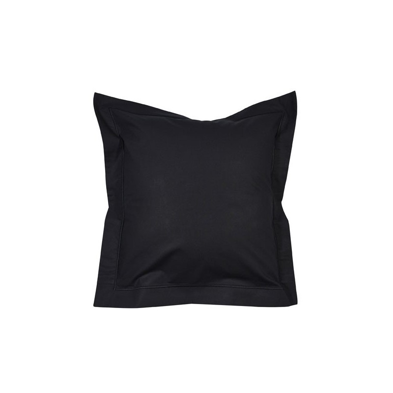 linge de lit percale noir tissus des ursules. Black Bedroom Furniture Sets. Home Design Ideas