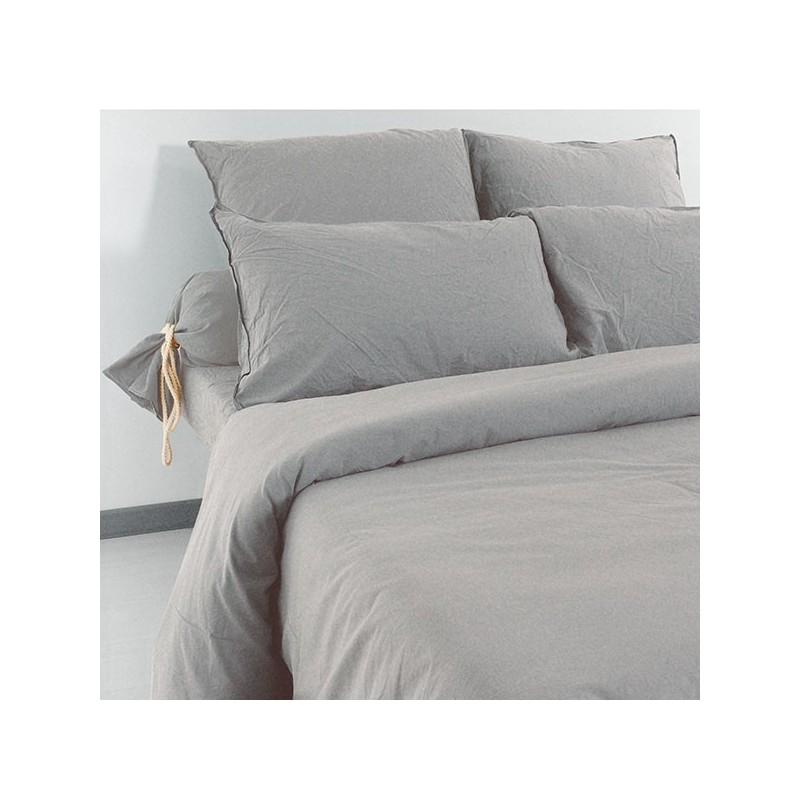 Linge de lit Palace Coton Lavé Galet