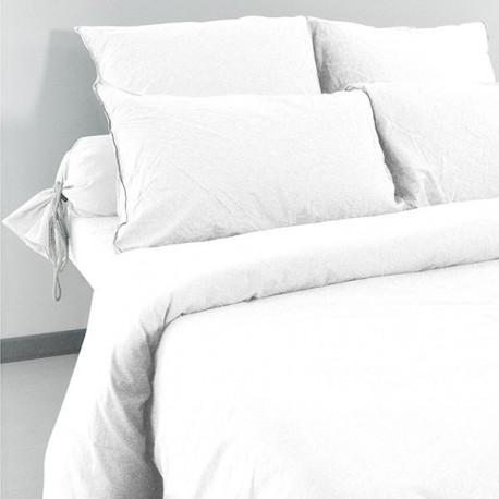 Linge de lit Palace Coton Lavé Neige