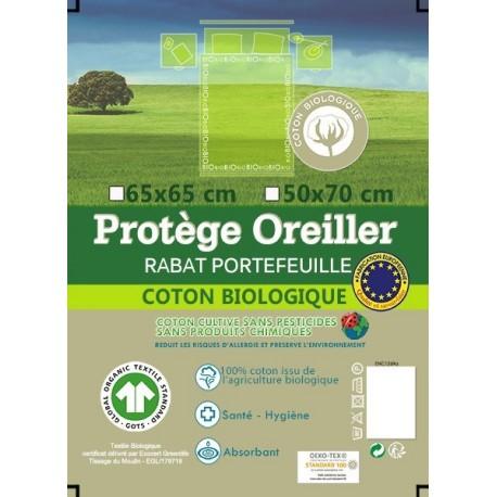 Protège Oreiller Molleton Bio