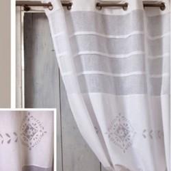Rideau Hortense Blanc