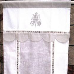 Store Passe Tringle Antoinette Blanc Gris - 2 Tailles