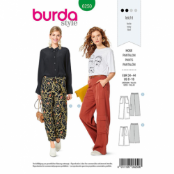 Patron Burda 6250 Pantalon Ample