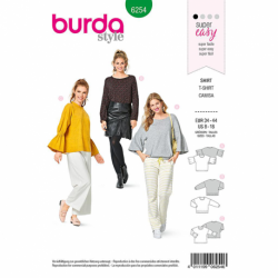 Patron Burda 6254 T-shirt Leger