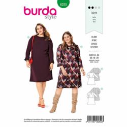 Patron Burda 6255 Robe à Jupe Evasée