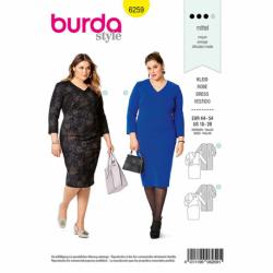 Patron Burda 6259 Robe Asymetrique