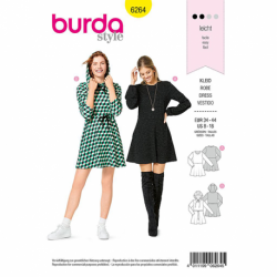 Patron Burda 6264 Robe T-shirt