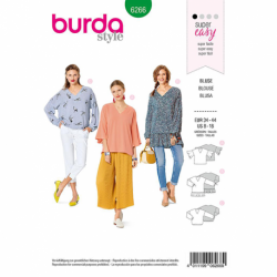 Patron Burda 6266 Blouse Ample