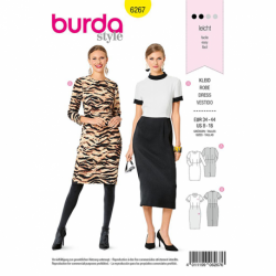 Patron Burda 6267 Robe Fourreau