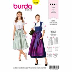 Patron Burda 6268 Robe Tyrolienne