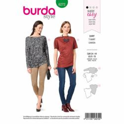 Patron Burda 6272 T-shirt Asymetrique