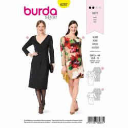 Patron Burda 6287 Robe Fluide